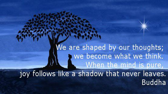 we are shaped by our thoughts - buddha